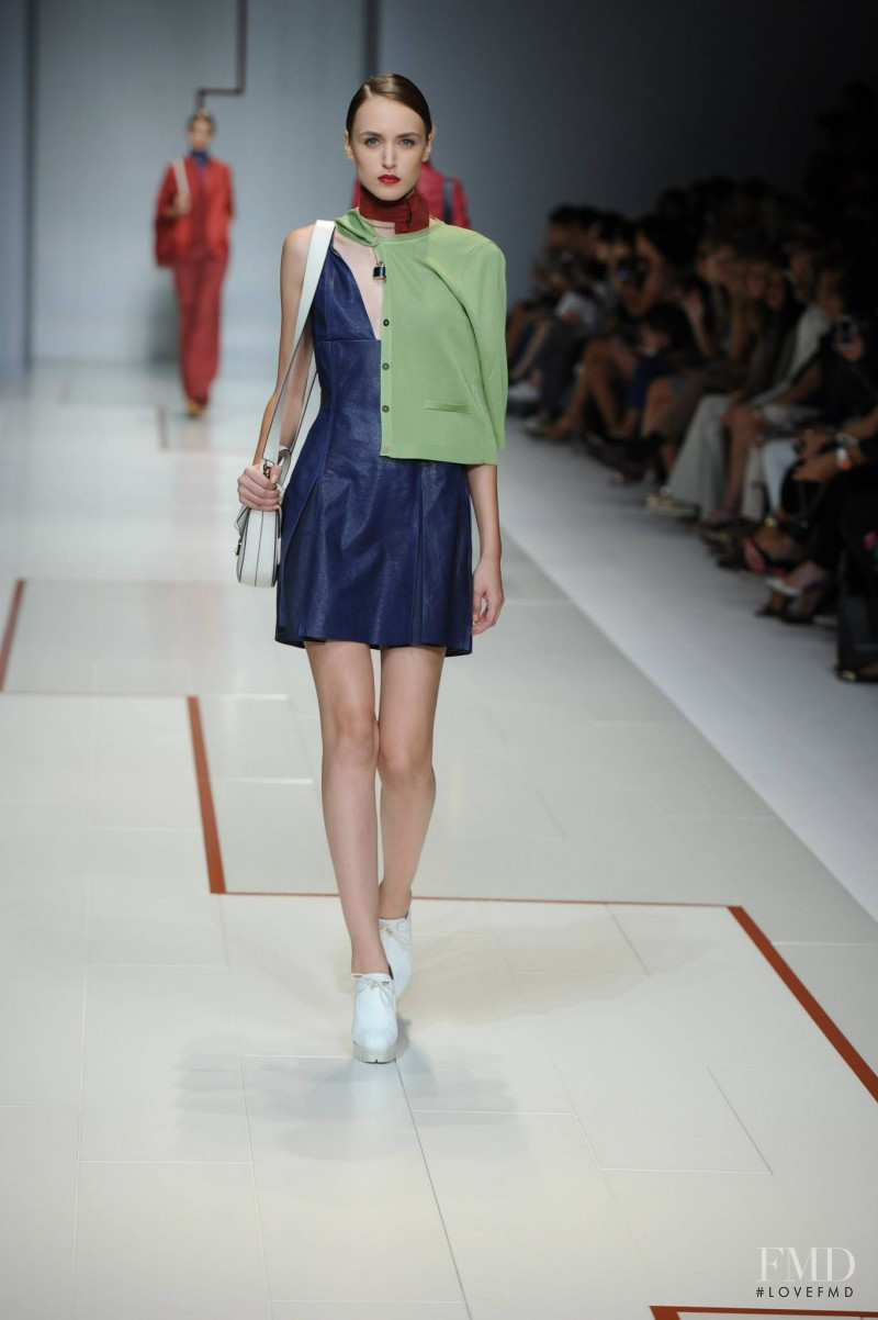 Stasha Yatchuk featured in  the Trussardi fashion show for Spring/Summer 2015