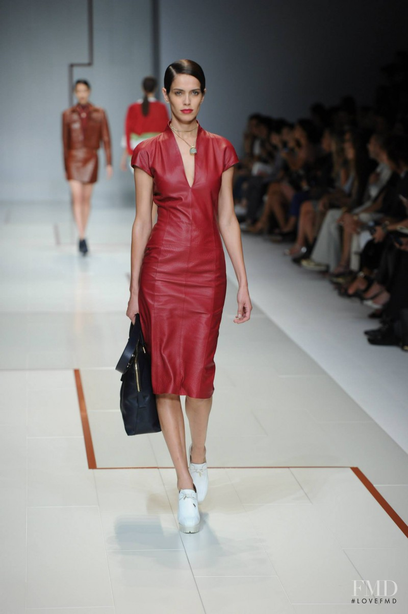 Amanda Brandão Wellsh featured in  the Trussardi fashion show for Spring/Summer 2015