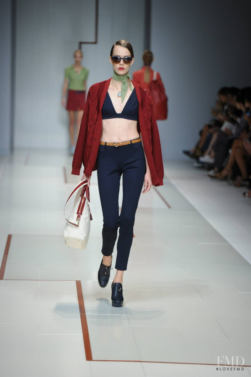 Taya Ermoshkina featured in  the Trussardi fashion show for Spring/Summer 2015