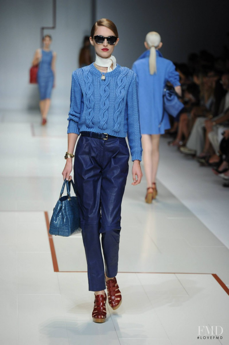 Manuela Frey featured in  the Trussardi fashion show for Spring/Summer 2015