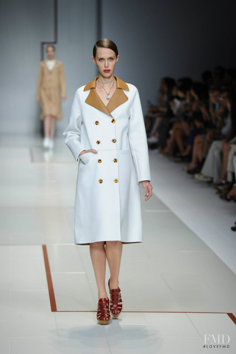 Georgia Hilmer featured in  the Trussardi fashion show for Spring/Summer 2015