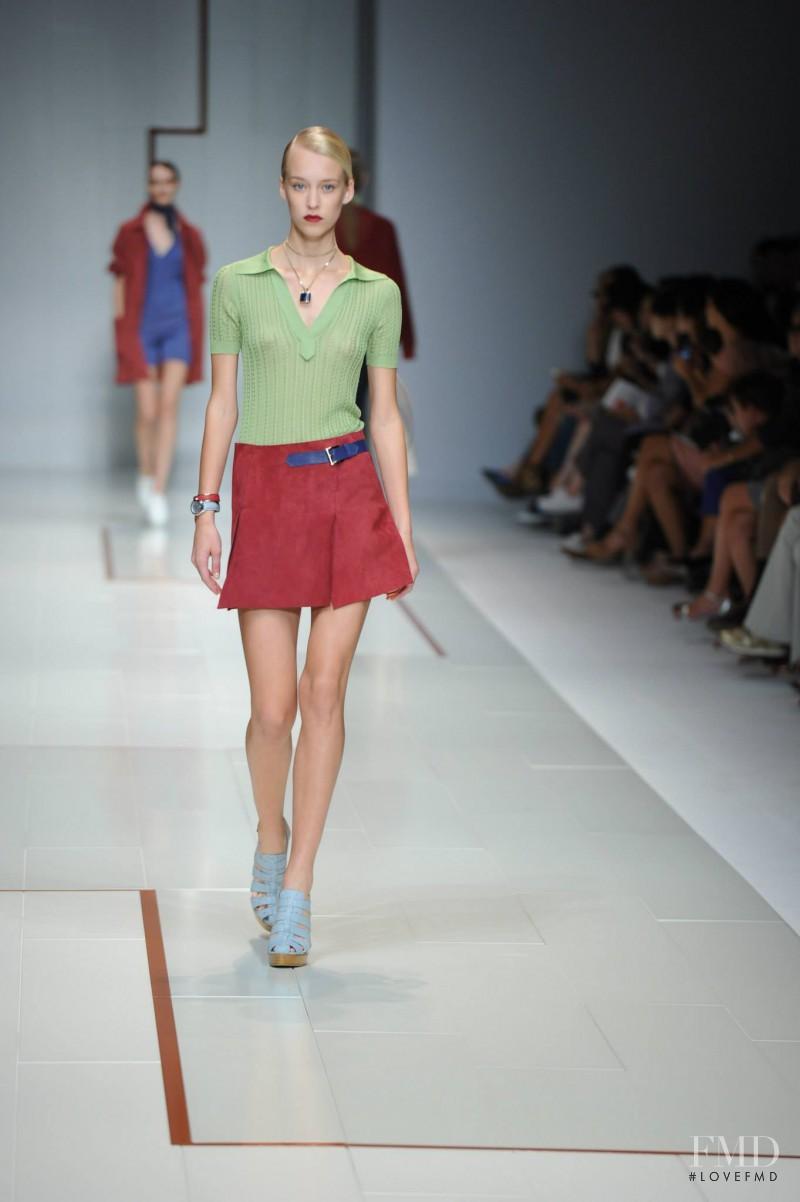 Eva Berzina featured in  the Trussardi fashion show for Spring/Summer 2015