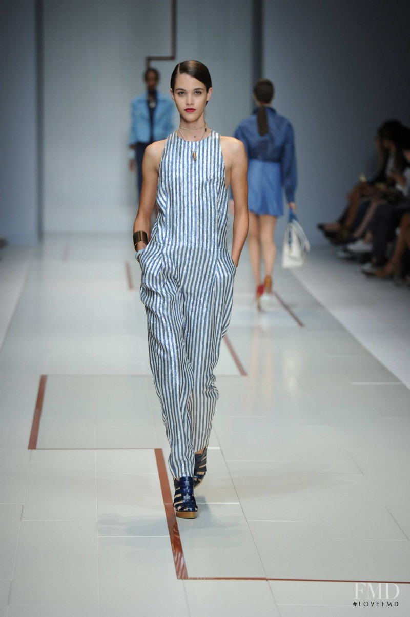 Pauline Hoarau featured in  the Trussardi fashion show for Spring/Summer 2015