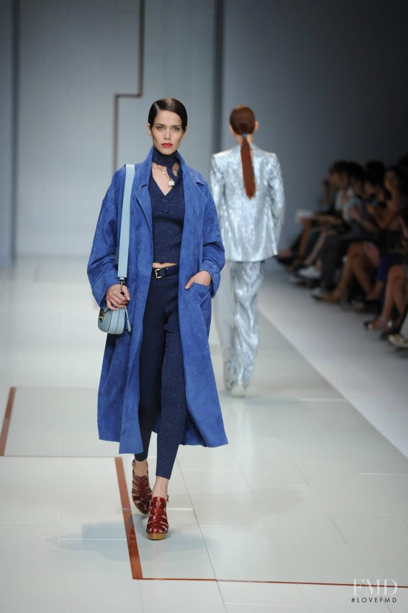 Amanda Brandão Wellsh featured in  the Trussardi fashion show for Spring/Summer 2015