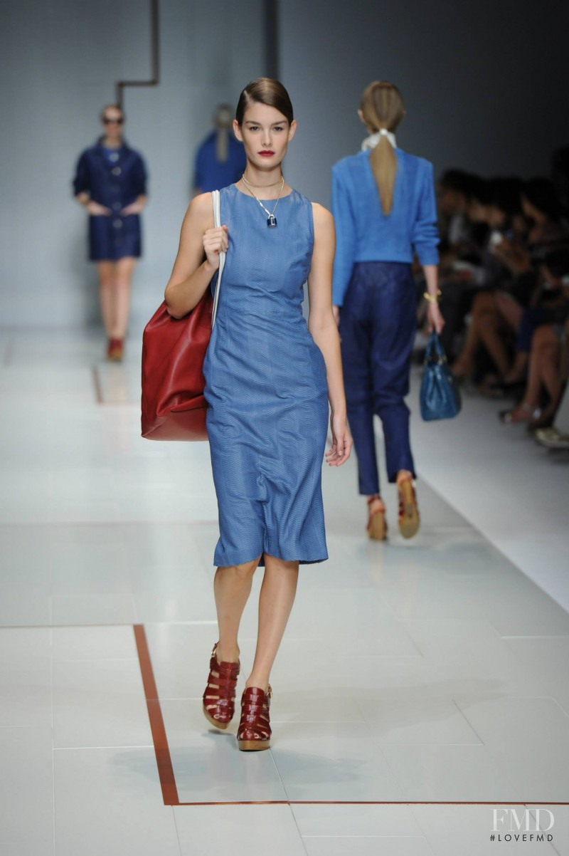 Ophélie Guillermand featured in  the Trussardi fashion show for Spring/Summer 2015