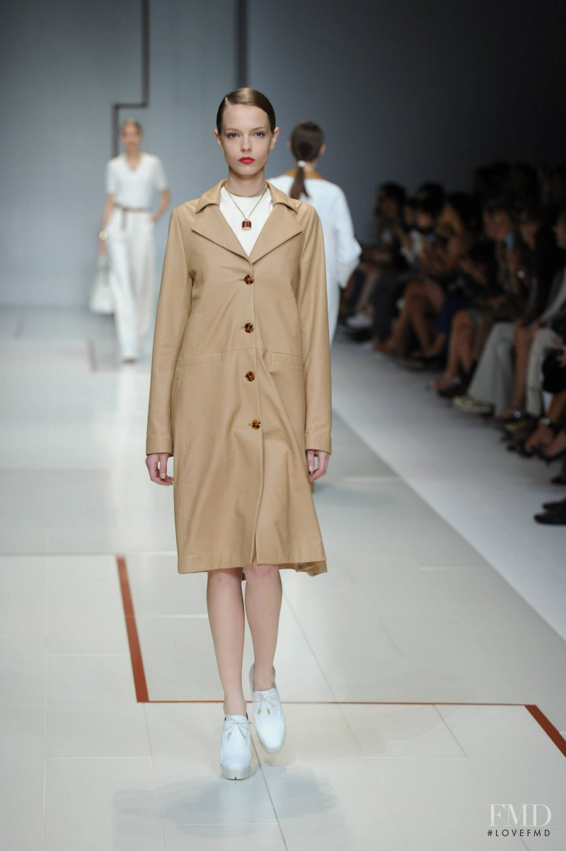 Mina Cvetkovic featured in  the Trussardi fashion show for Spring/Summer 2015