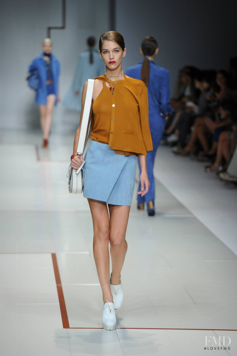 Samantha Gradoville featured in  the Trussardi fashion show for Spring/Summer 2015