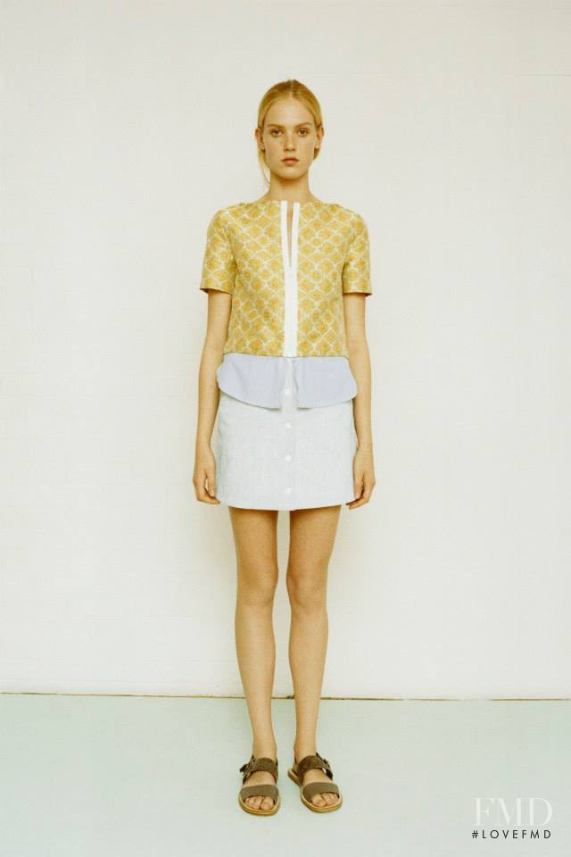 Charlene Hoegger featured in  the Richard Nicoll fashion show for Resort 2015