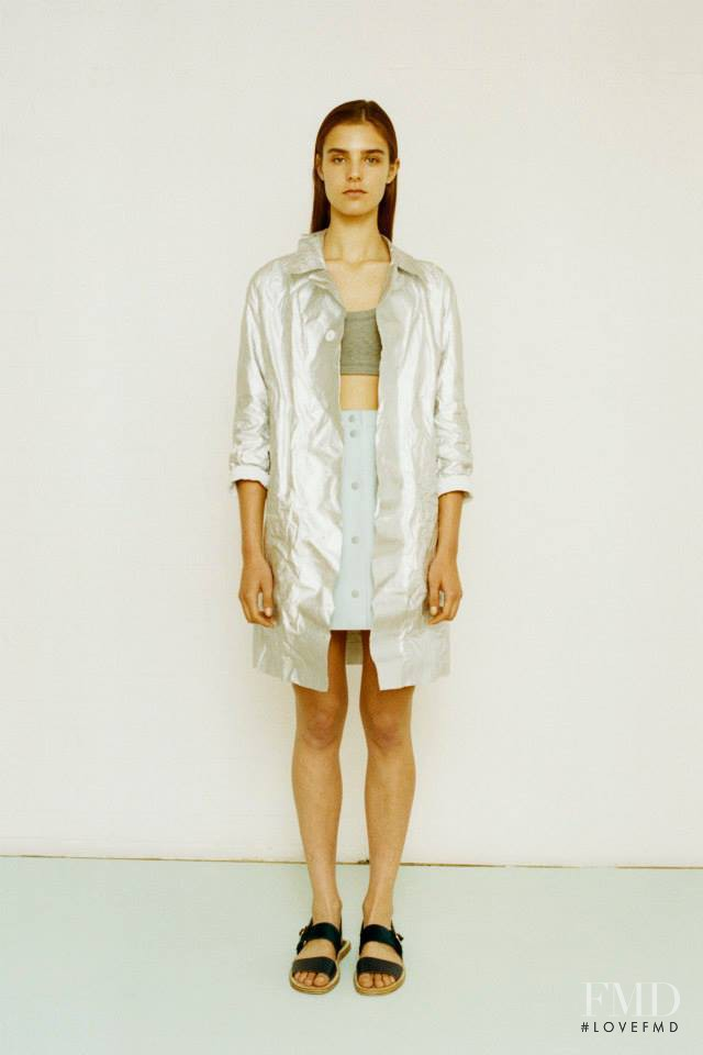 Olivia David featured in  the Richard Nicoll fashion show for Resort 2015