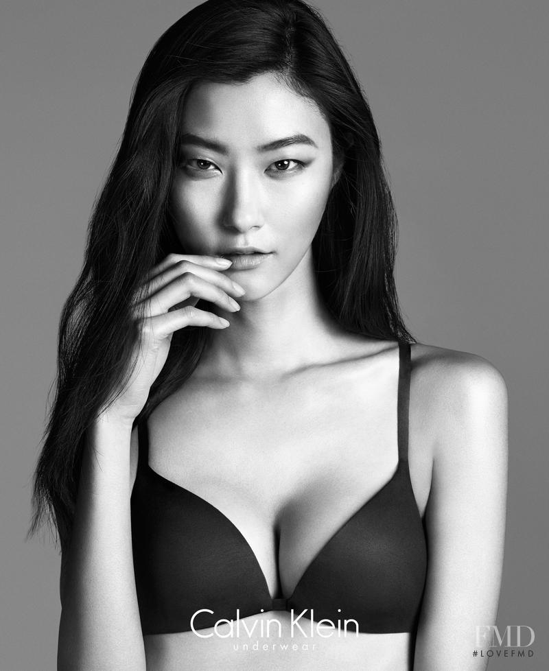 Ji Hye Park featured in  the Calvin Klein Underwear advertisement for Autumn/Winter 2014