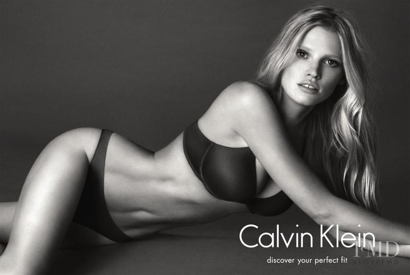 Lara Stone featured in  the Calvin Klein Underwear advertisement for Autumn/Winter 2014