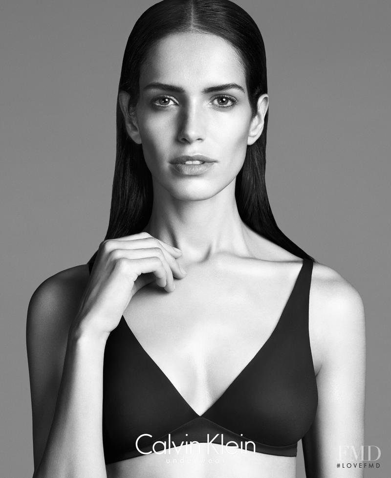 Amanda Brandão Wellsh featured in  the Calvin Klein Underwear advertisement for Autumn/Winter 2014