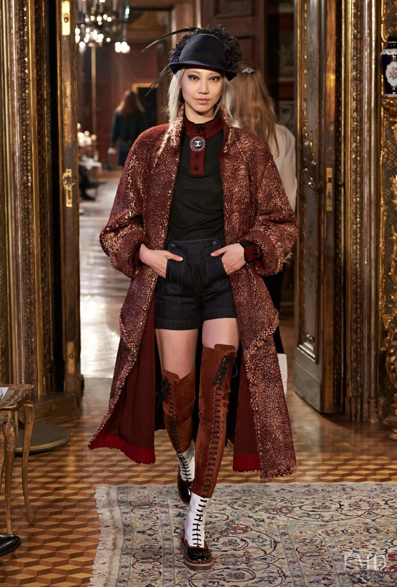 Soo Joo Park featured in  the Chanel fashion show for Pre-Fall 2015