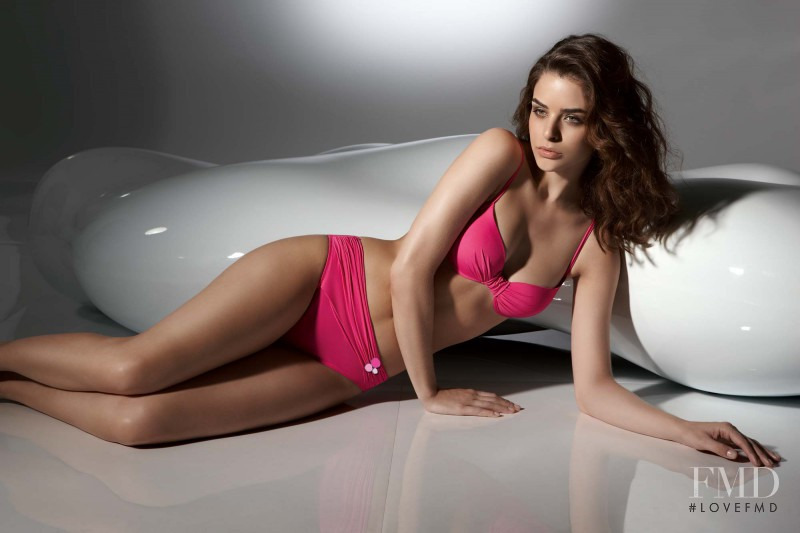 Fernanda Prada featured in  the Dolores Cortés catalogue for Spring/Summer 2011