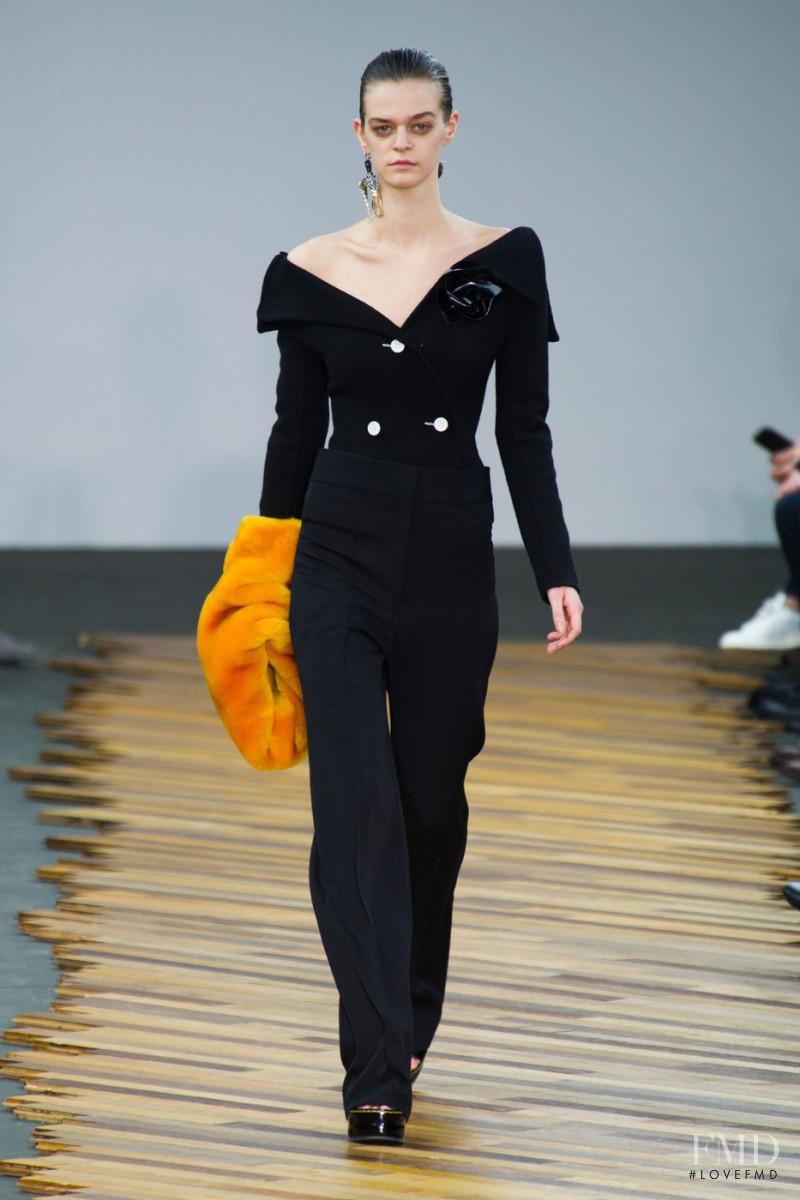 Brogan Loftus featured in  the Celine fashion show for Autumn/Winter 2014