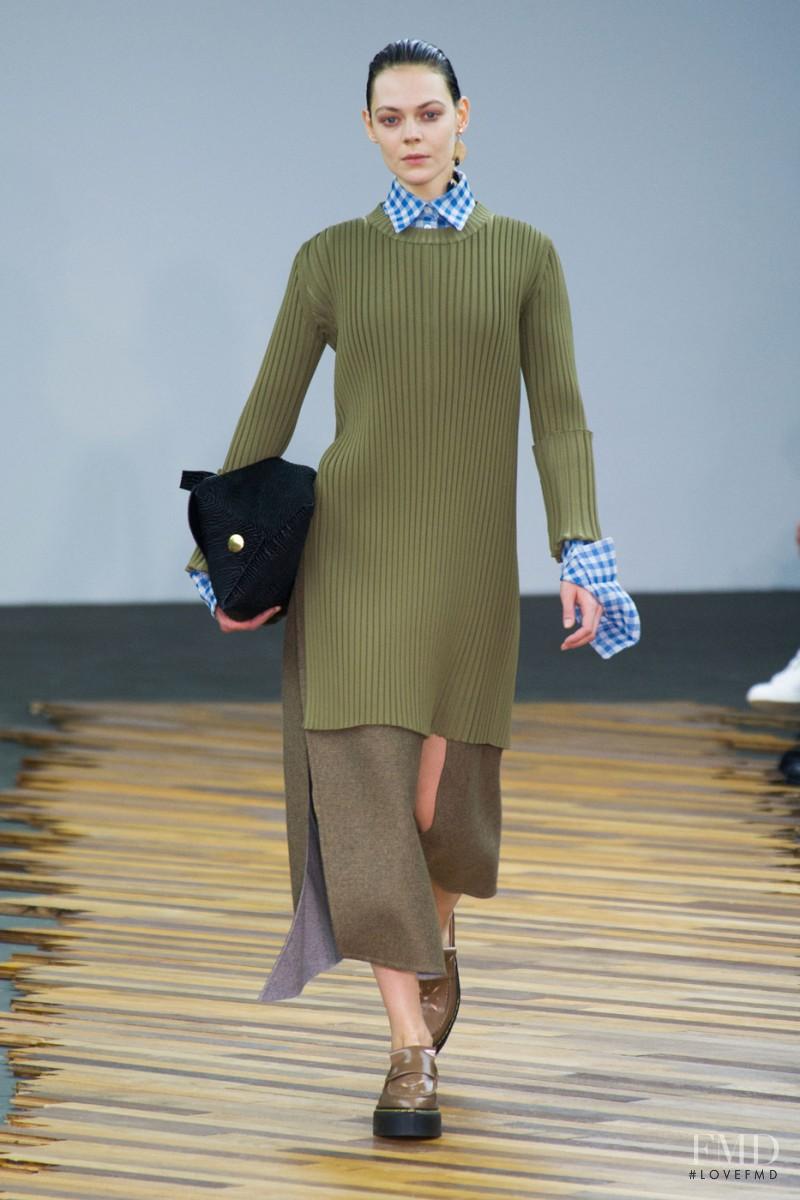 Kinga Rajzak featured in  the Celine fashion show for Autumn/Winter 2014