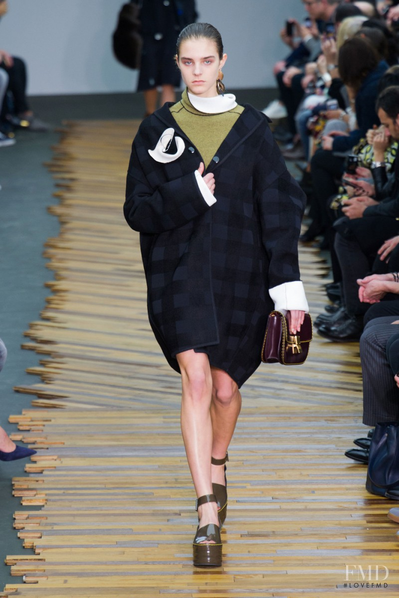 Olivia David featured in  the Celine fashion show for Autumn/Winter 2014