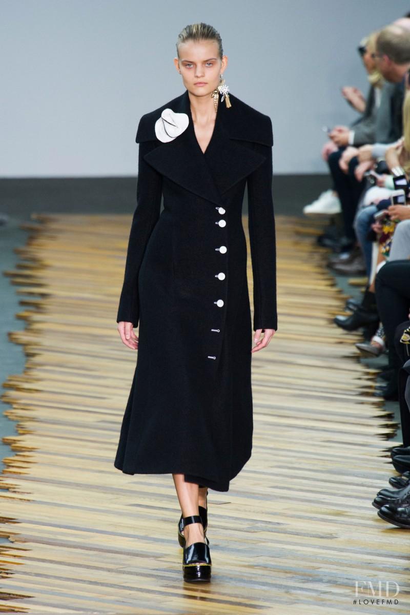 Kate Grigorieva featured in  the Celine fashion show for Autumn/Winter 2014