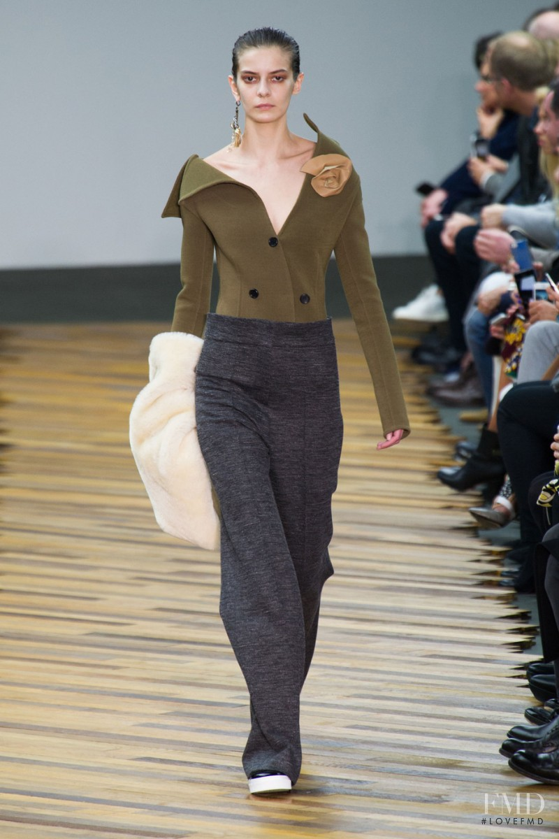 Dasha Denisenko featured in  the Celine fashion show for Autumn/Winter 2014