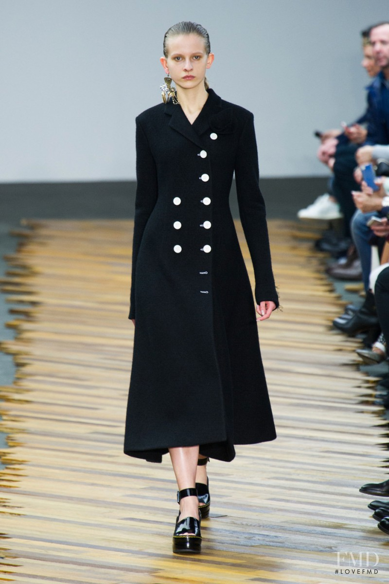 Ola Munik featured in  the Celine fashion show for Autumn/Winter 2014