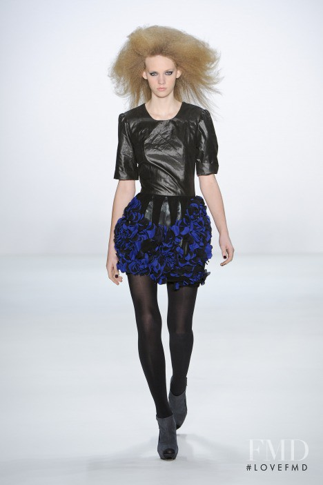 Charlotte Nolting featured in  the Marcel Ostertag fashion show for Autumn/Winter 2011