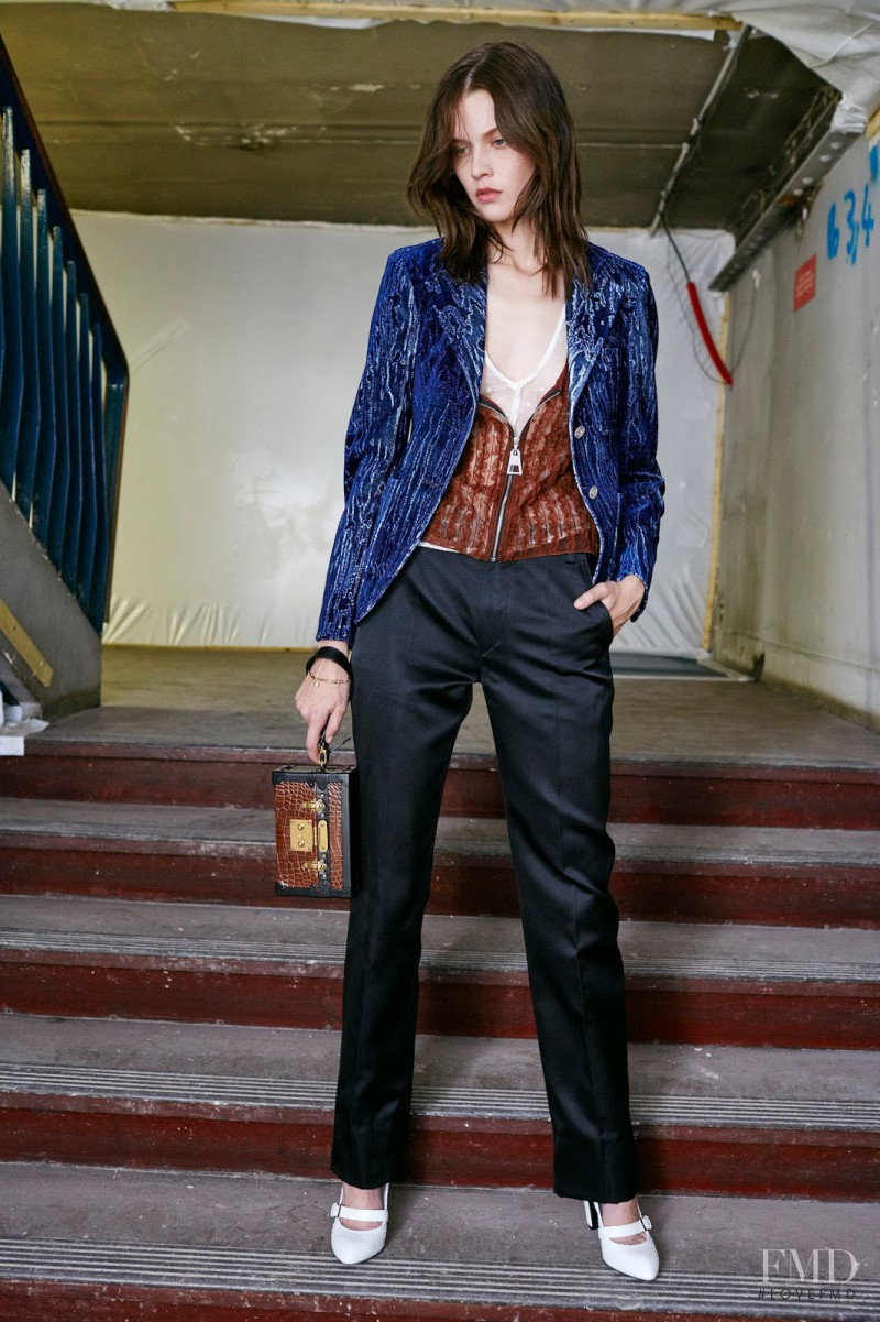 Angel Rutledge featured in  the Louis Vuitton fashion show for Pre-Fall 2015