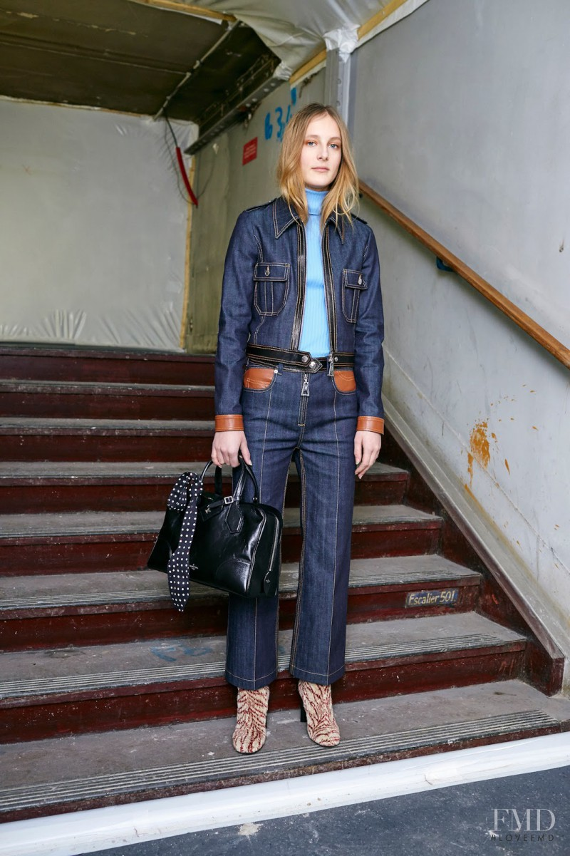 Olympia Campbell featured in  the Louis Vuitton fashion show for Pre-Fall 2015