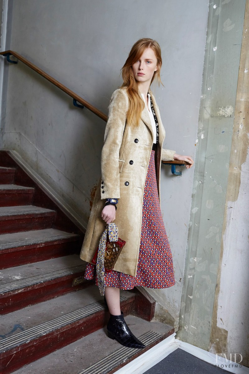 Rianne Van Rompaey featured in  the Louis Vuitton fashion show for Pre-Fall 2015