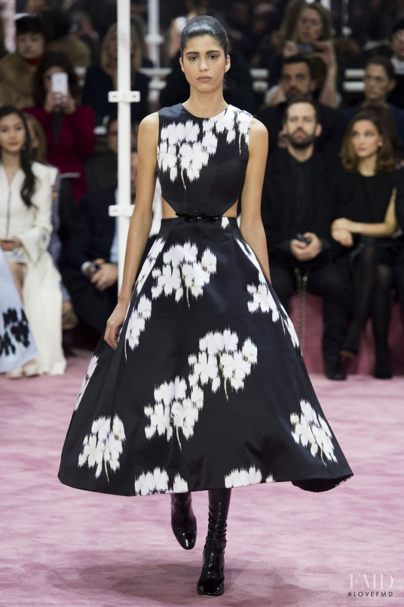 Mica Arganaraz featured in  the Christian Dior Haute Couture fashion show for Spring/Summer 2015