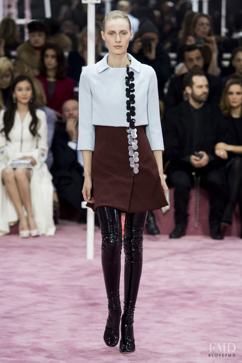 Julia Nobis featured in  the Christian Dior Haute Couture fashion show for Spring/Summer 2015