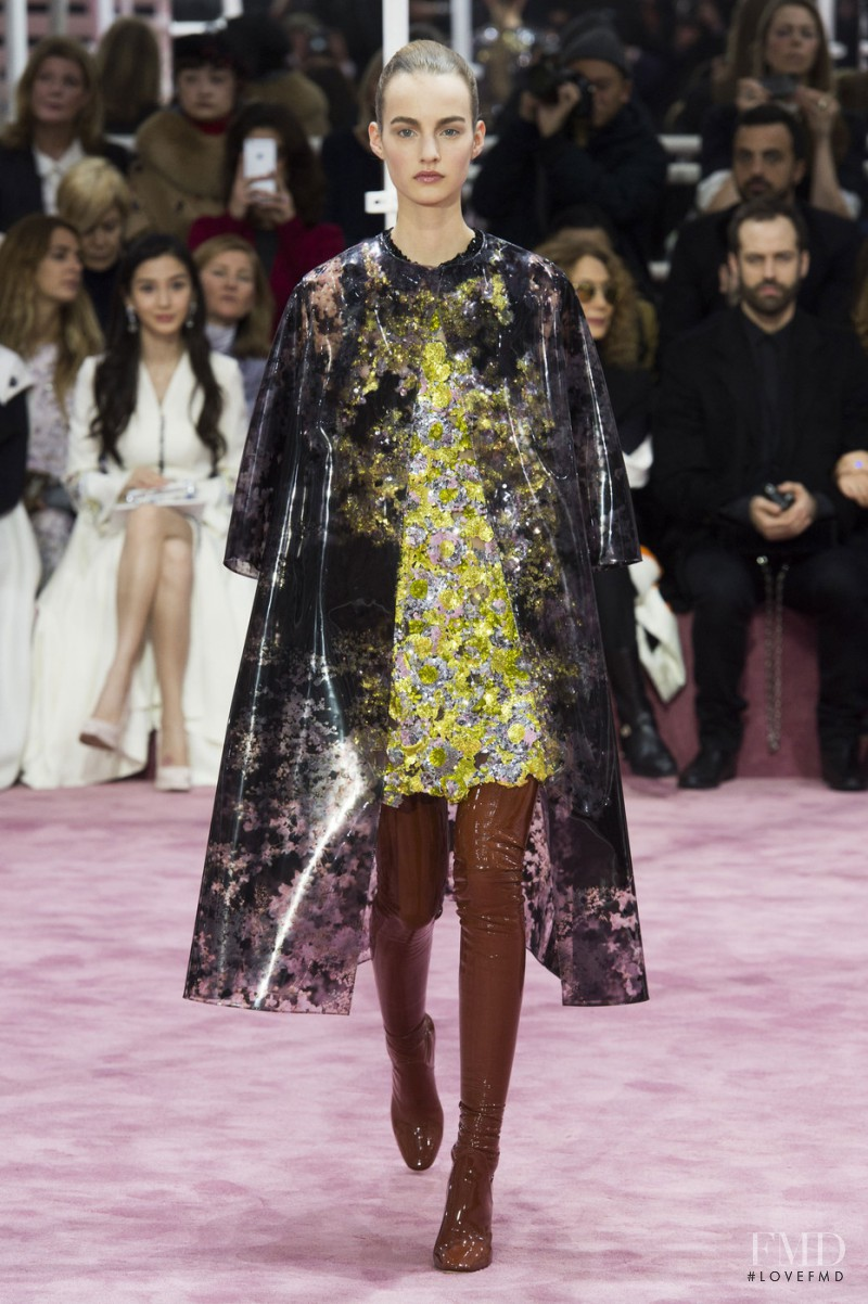 Maartje Verhoef featured in  the Christian Dior Haute Couture fashion show for Spring/Summer 2015