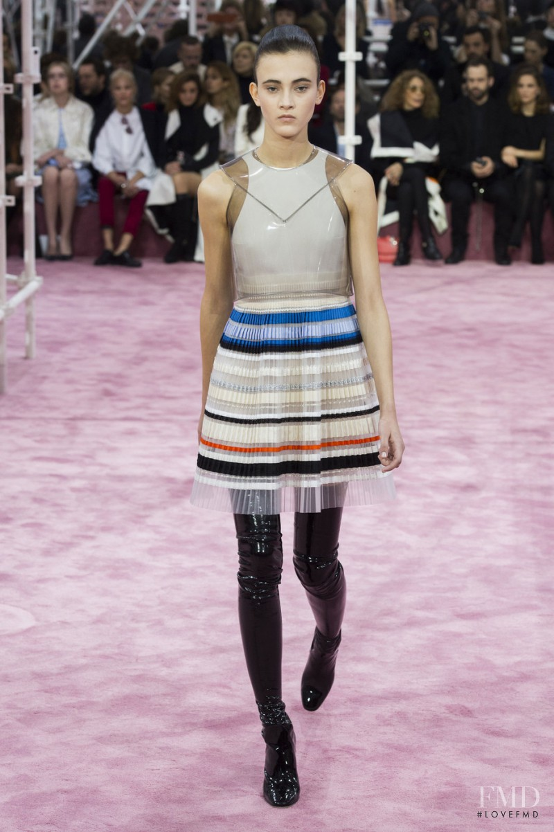 Greta Varlese featured in  the Christian Dior Haute Couture fashion show for Spring/Summer 2015