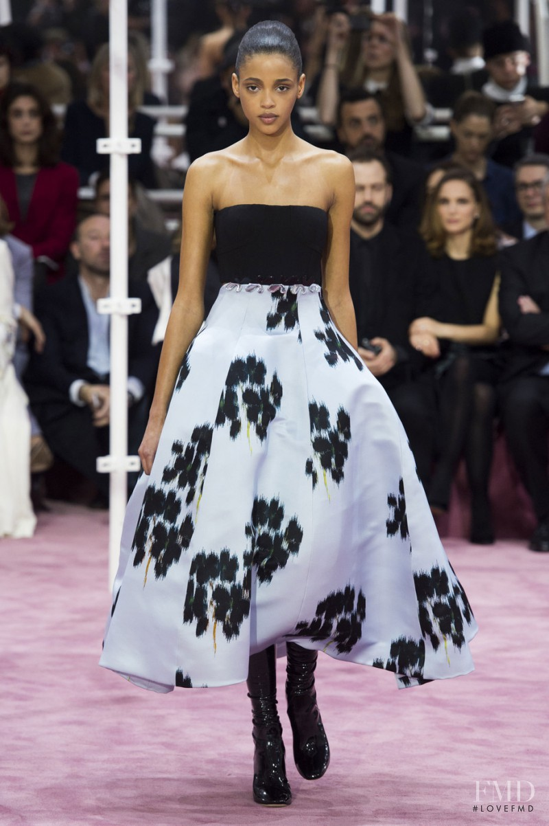 Aya Jones featured in  the Christian Dior Haute Couture fashion show for Spring/Summer 2015