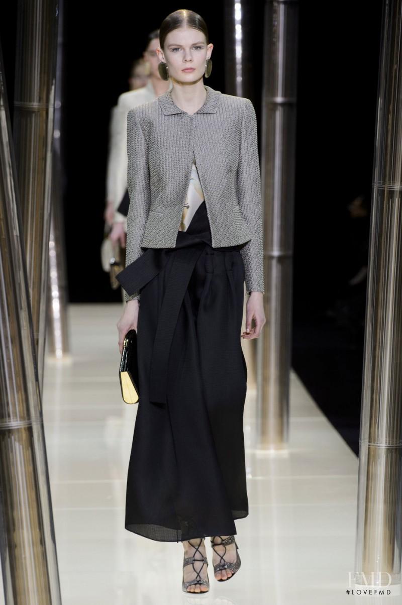 Alexandra Elizabeth Ljadov featured in  the Armani Prive fashion show for Spring/Summer 2015