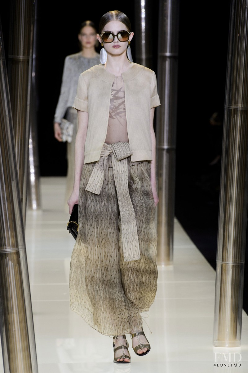 Aneta Pajak featured in  the Armani Prive fashion show for Spring/Summer 2015