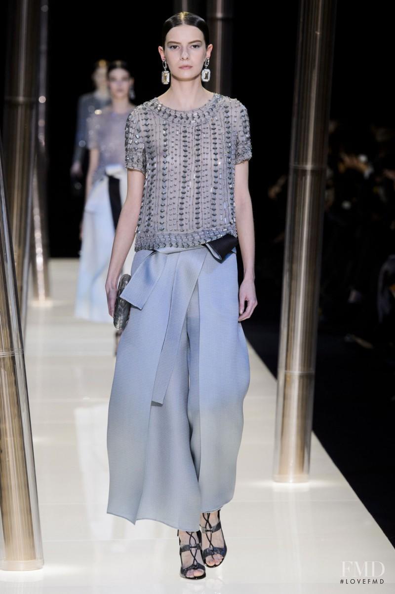 Dasha Denisenko featured in  the Armani Prive fashion show for Spring/Summer 2015