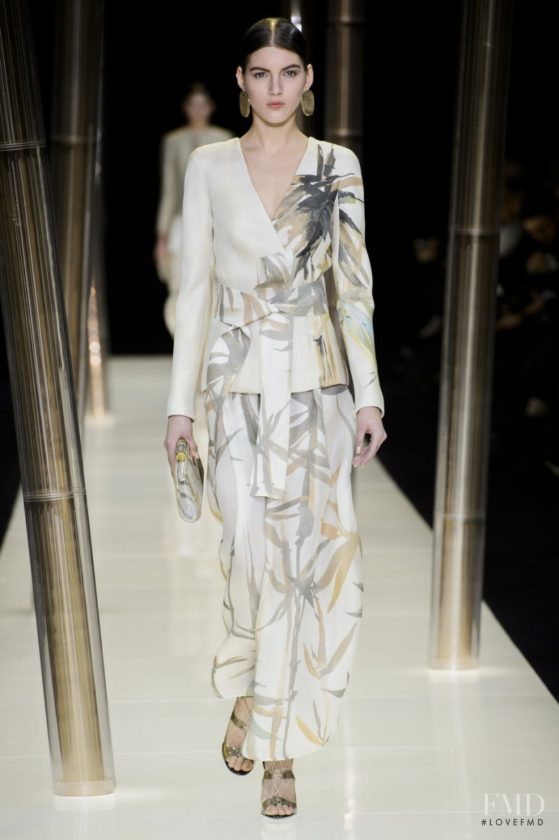 Valery Kaufman featured in  the Armani Prive fashion show for Spring/Summer 2015