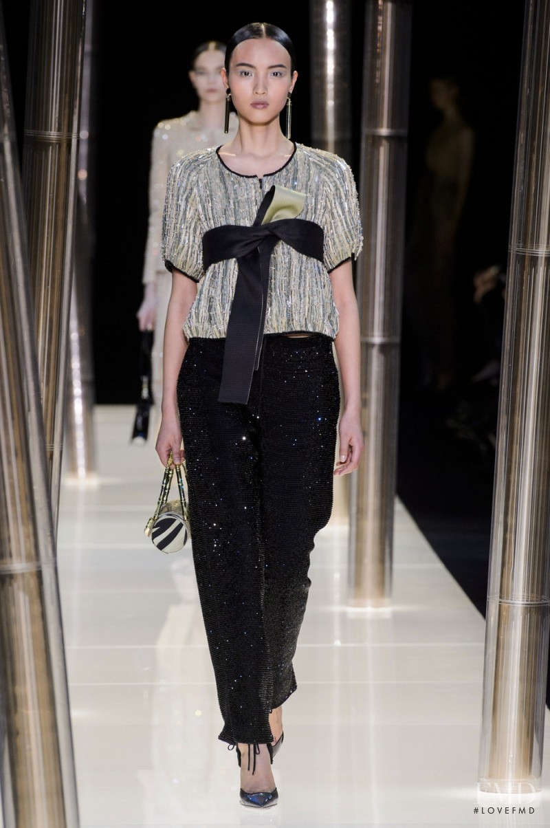 Luping Wang featured in  the Armani Prive fashion show for Spring/Summer 2015