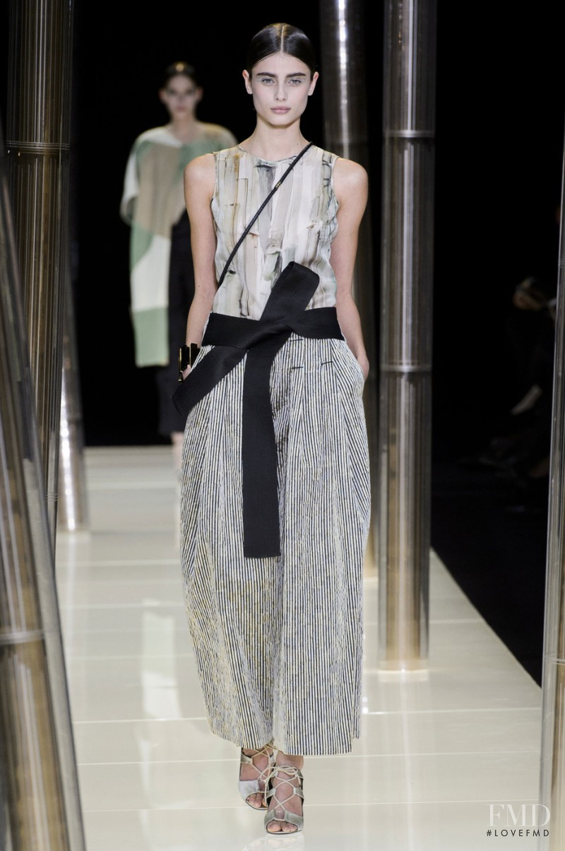 Taylor Hill featured in  the Armani Prive fashion show for Spring/Summer 2015