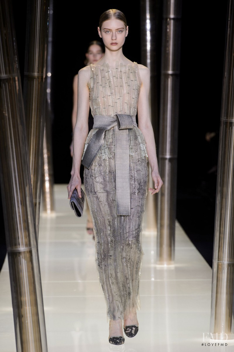 Nastya Kusakina featured in  the Armani Prive fashion show for Spring/Summer 2015