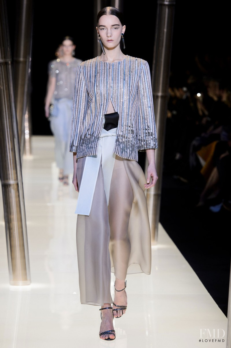 Irina Liss featured in  the Armani Prive fashion show for Spring/Summer 2015