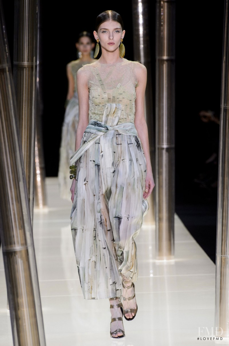 Anastasia Lagune featured in  the Armani Prive fashion show for Spring/Summer 2015