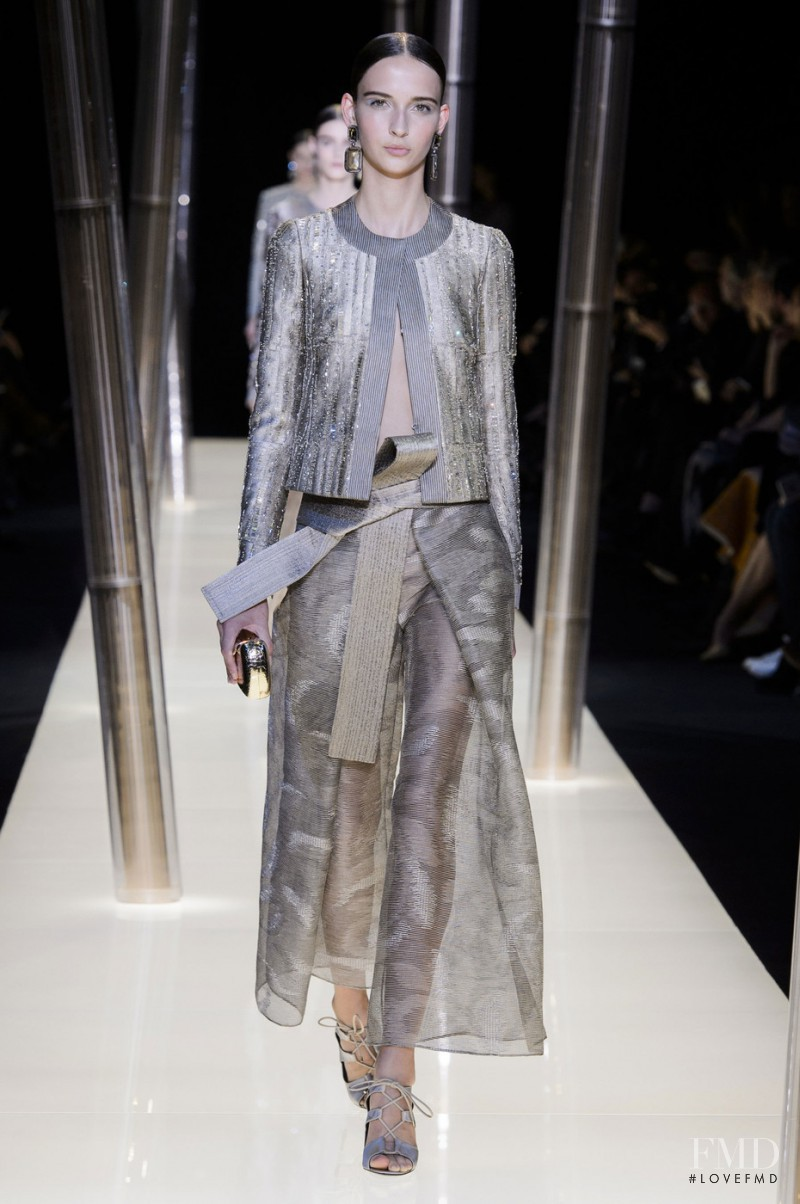 Waleska Gorczevski featured in  the Armani Prive fashion show for Spring/Summer 2015