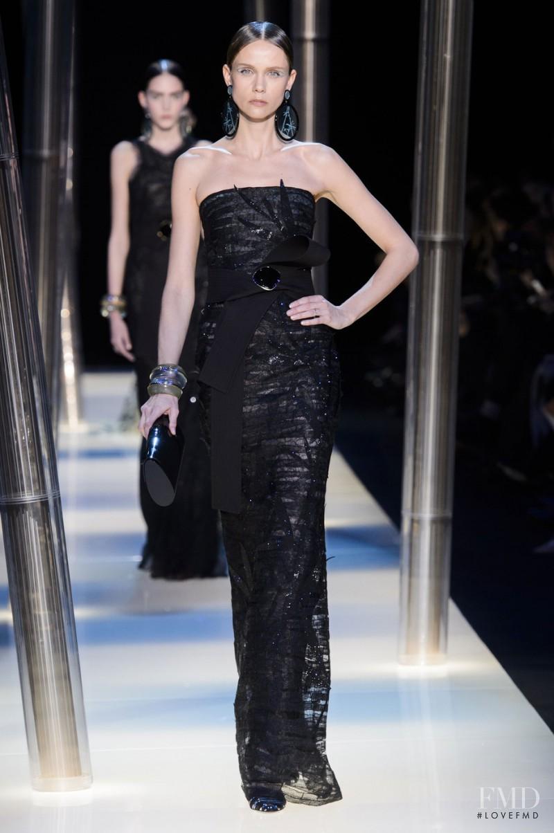 Veronika Pospisilova featured in  the Armani Prive fashion show for Spring/Summer 2015