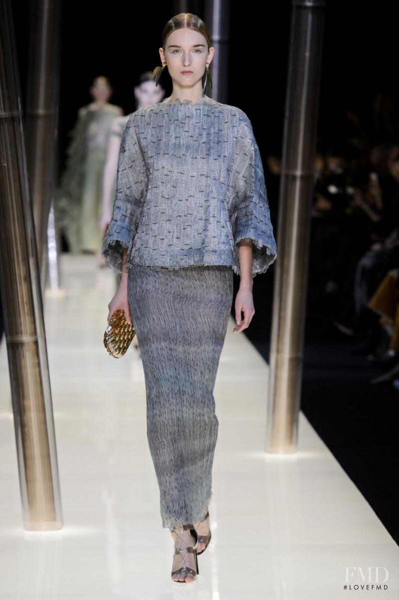Manuela Frey featured in  the Armani Prive fashion show for Spring/Summer 2015