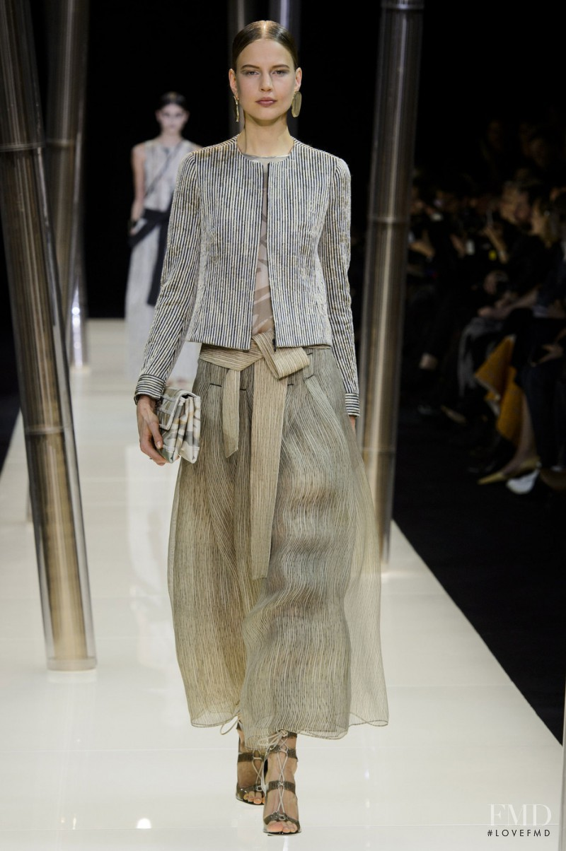Elisabeth Erm featured in  the Armani Prive fashion show for Spring/Summer 2015