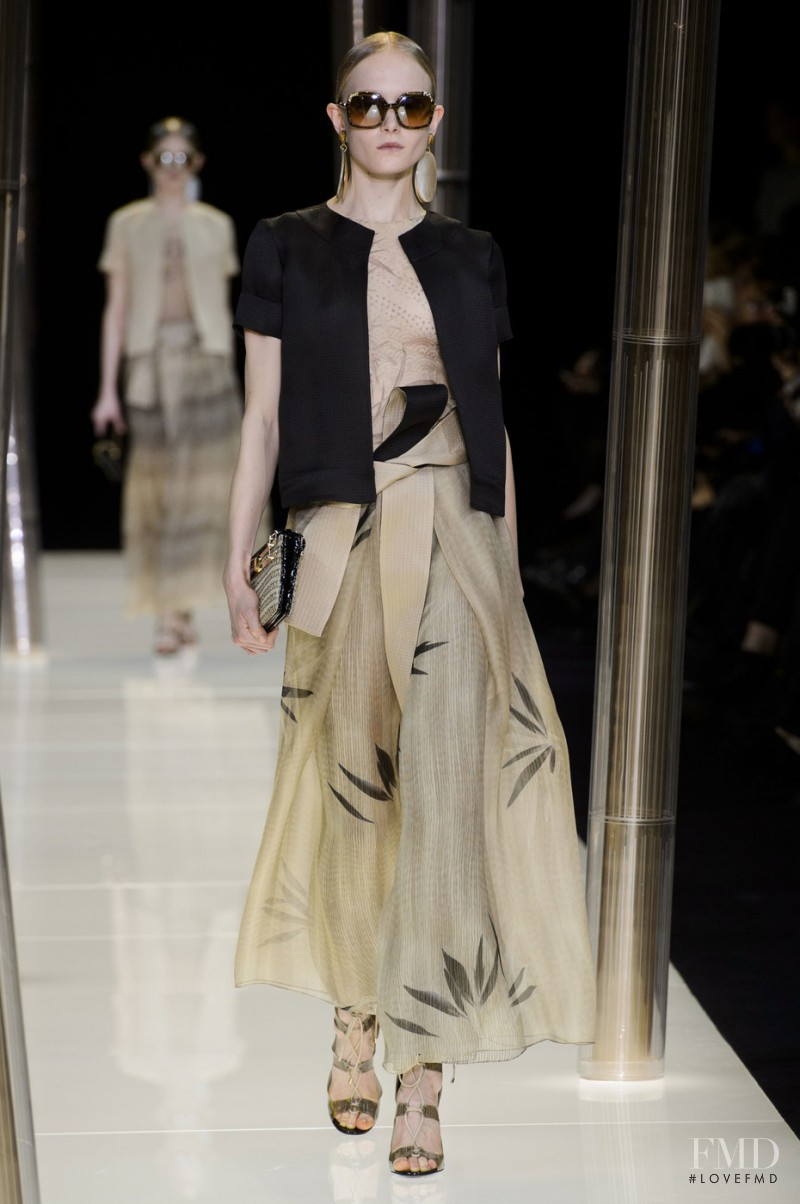 Maja Salamon featured in  the Armani Prive fashion show for Spring/Summer 2015