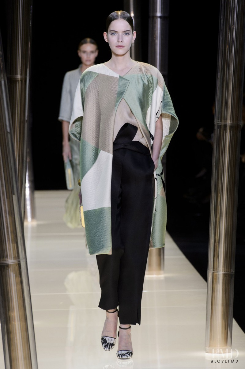 Alexandra Hochguertel featured in  the Armani Prive fashion show for Spring/Summer 2015