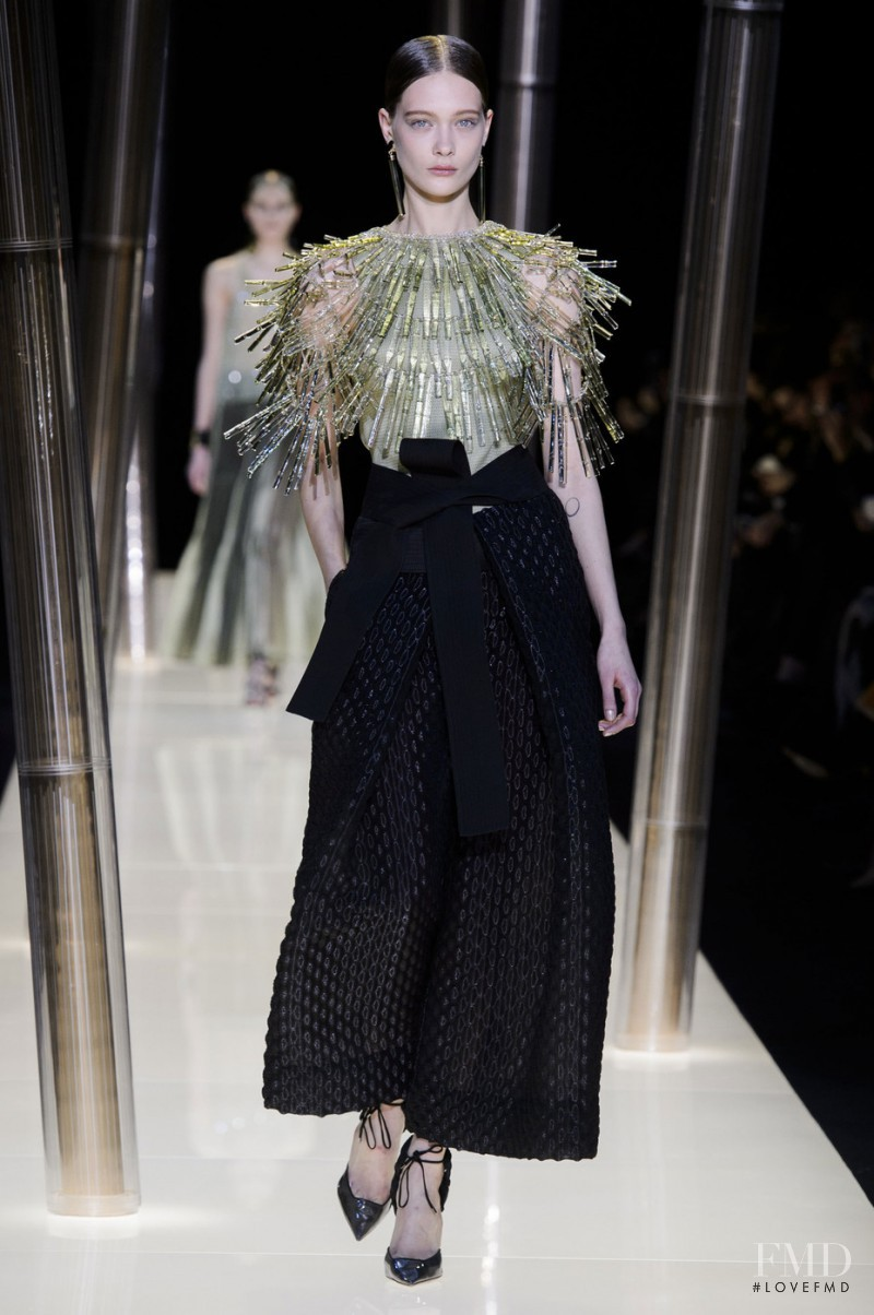 Tanya Katysheva featured in  the Armani Prive fashion show for Spring/Summer 2015