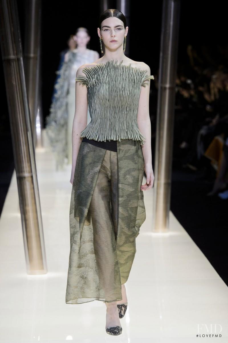 Vittoria Ceretti featured in  the Armani Prive fashion show for Spring/Summer 2015
